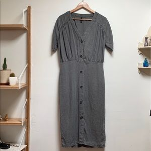 Zara TRF Collection Midi Gray Dress, Size Medium